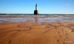 365/52 WEEK 35 (mootzie) Tags: blue sea sky lighthouse walking scotland sand ship aberdeenshire lego patterns horizon north footprints lyn week35 peterhead rattray 36552
