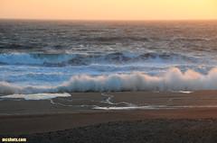 BackwashAndBermSplash (mcshots) Tags: ocean california sunset sea sky usa beach water coast surf waves stock windy socal rough breakers sands mcshots springtime storming losangelescounty choppy highsurf