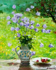 Still life of late spring. N38 (kirilko) Tags: flowers stilllife painting spring berries sunny ukraine vase volodymyrlyashchenko