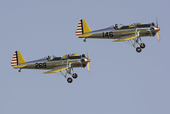 A Pair of Trainers (dcnelson1898) Tags: california military airplanes airshow warbirds usnavy worldwar2 chino usarmy koreanwar militaryhistory sanbernardinocounty planesoffamemuseum chinoairport 2016planesoffameairsow