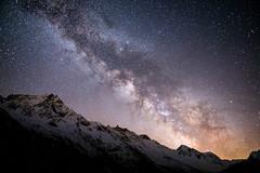 Milky Way (JimiaS) Tags: longexposure sky art beauty night wow stars outdoors switzerland nikon view nightscape suisse swiss ngc creative dream trail serenity dreams nikkor nuit wallis f28 toiles valais peacful d800 milkyway rve 2470f28 voielacte