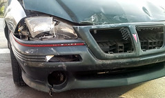 20150319 - Carolyn's car accident - smashed up Grand Am - hood and grill, passenger-side headlight - (by Carolyn) - 20150319_081657 (1) (Rev. Xanatos Satanicos Bombasticos (ClintJCL)) Tags: light car maryland grill vehicle hood headlight smashed 1994 silverspring caraccident totaled carhood 2015 pontiacgrandam camerapersoncarolyn pontiacgrandamcar pontiacgrandam1994 pontiacgrandam1994car 201503 20150319 caraccident20150319