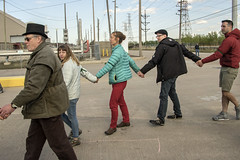 May 15 2016: Hundreds of Midwesterners march on the BP refinery in Whiting IN. A sit-in at a refinery gate resulted in 41 arrests. (BobboSphere) Tags: protest oil environment bp refinery civildisobedience climatechange petroleum fossilfuels tarsands whitingin greentechnology 350org breakfreemidwest