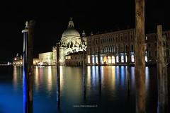 Night in Venice II (Marco Equizi) Tags: venice italy church water night reflections italia cityscape nightscape outdoor lagoon chiesa venezia riflessi nocturne canale notturno santamariadellasalute canalgrande longexposition flickraward flickraward5