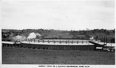 Murray Views No 2 Railway Roundhouse, Junee, NSW (Daddys 'lil Girl) Tags: postcard australia nsw historical 1949 wagga albury junee riverina