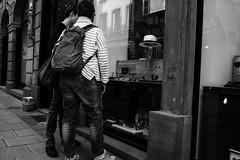 (Marion H Photo) Tags: street city people white black window monochrome shop photography live fujifilm x100t