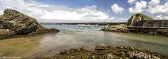 2111  Cudillero, Asturias (Ricard Gabarrs) Tags: water puerto mar agua playa natura olympus arena cielo nubes olas cudillero rocas airelibre puertodecudillero ricgaba ricardgabarrus