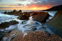 Church Cove, West Cornwall (Tony Armstrong-Sly) Tags: churchcove cornwall lizardpeninsular landscape sunset beach cove coast sea britain england britishcoastline nature sun