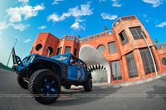 THE HYDRA (dr.7sn Photography) Tags: blue shark nikon jeep jeeps fisheye hydro saudi jeddah stinger saudiarabia hydra wrangler metalmulisha sharktooth jeepwrangler kmc hankook smittybilt   cornich   thehydra ruggedridge xrc  kmcwheels  bluewrangler hydroblue spartangrille sharlgate