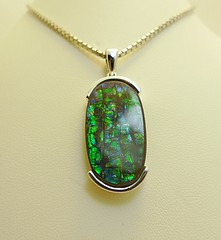 NEW ARRIVAL (The Ammolite) Tags: fossil ammonite ammolite jewellery jewelry pendant silver