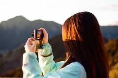 Goldilocks (klolam) Tags: travel light sun mountain film colors sunrise 35mm photography golden photo pentax kodak taiwan hike analogue pentaxmesuper kodakfilm colorplus