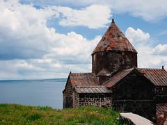Sevanavank (lar-f) Tags: lake building church water stone architecture waterfront outdoor armenia sevan sevanavank