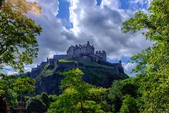 Edinburgh Castle (Graeme Pow) Tags: light sky sun castle rock clouds scotland edinburgh edinburghcastle dramatic scottish flare drama