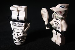 Buggin' Out (CJ Isherwood) Tags: out starwars lego upsidedown tennis stormtrooper legostarwars bugging buggin scouttrooper buggingout