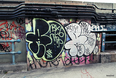 (Into Space!) Tags: street city newyorkcity urban ny newyork graffiti tags graff ro bombing throw ppp fill remo btb fillin throwie intospace take7 kwote