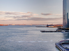 Jersey City nearing sunset (nosha) Tags: ocean city sunset usa ny water beautiful beauty skyline newjersey jerseycity nj shore jersey jerseyshore 2012 lightroom nosha epl3 jerseycitynewjerseyusa