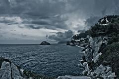 Bergeggi Night (Lorenzo Pirotto) Tags: panorama nuvole mare cielo pioggia spiaggia paesaggio isola tempesta bergeggi