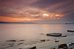 Seascape (Alja Vidmar | ADesign Studio) Tags: longexposure sunset sea water clouds sherpa 200r cokin velbon ndfilter gnd nd4x nd8x
