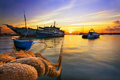 TERTAMBAT,, (ManButur PHOTOGRAPHY) Tags: ocean longexposure morning travel blue sea sky bali sun sunrise canon indonesia landscape photography eos golden boat agua scenery aqua asia long exposure view harbour line east shore usm efs canonefs1022mmf3545usm balibeach f3545 450d beautifulbali easasia manbuturphotography