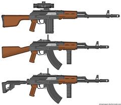 AK with custom parts. (Psilocabe) Tags: parts ak