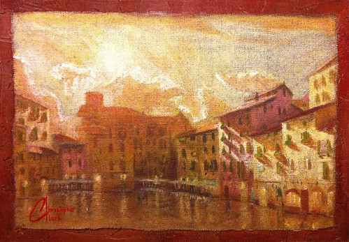 Lucca at Sunset I