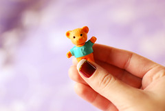 teddy ♥ (Natália Viana) Tags: cute love teddy sweet nails unhas borracha ursinho esmalte natáliaviana
