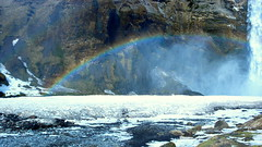 P1030589 (mansionmedia simon knight) Tags: ice waterfall iceland rainbow mansionmedia