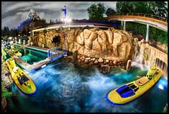 Queue the Subs, Matterhorn to Wardrobe - Disneyland (Gregg L Cooper) Tags: night canon eos nemo disneyland disney submarine 7d matterhorn monorail tomorrowland hdr