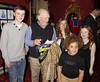 James Forde, David Jason, Maisie Smith and Devon Higgs 'Shrek The Musical' first anniversary performance held at Theatre Royal - Inside London, England