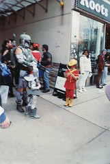 boba fet and kid (ashlee hutchinson) Tags: comics starwars costume lomo lomography lol conventions bobafet