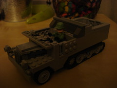 lego world war 2 (carpenter dylan) Tags: lego 11 3t sdkfz leichter zugkraftwagen germanhalftrack legoww2 legohalftrack