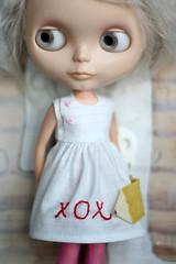 oxo (Button Arcade) Tags: white wool pencil paper notebook doll dress felt blythe pockets lined buttonarcade