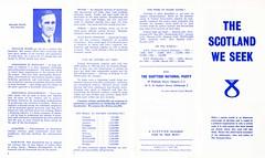 SNP Leaflet, c.1968 (Scottish Political Archive) Tags: party scotland scottish national publicity campaign wolfe snp