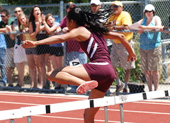 girls 300h 9 kyra johnson req 2012 (MichaelLucid Pics) Tags: req redwoodempire santarosahighschool
