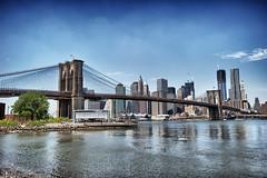 Brooklyn Bridge (SMA Photography) Tags: city nyc newyorkcity usa newyork architecture brooklyn icons manhattan horizon brooklynbridge eastriver amerika newyorklife wahrzeichen hngebrcke vereinigtestaaten newyorkphotography nikond3s sehnsuchtsbrcke smaphotography
