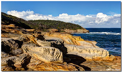 IMG_5989_90_91 (Steve Daggar) Tags: ocean sandstone hdr photomatix seascap weatheredsandstone boudinationalpark puttibeach