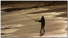 IMG_6021-Edit (Steve Daggar) Tags: ocean beach silhouette fisherman sandstone seascap weatheredsandstone boudinationalpark fotocompetition fotocompetitionbronze puttibeach