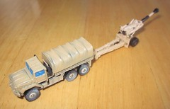 M923 Truck with M198 Howitzer (biomckill) Tags: truck howitzer micromachines m198 m923