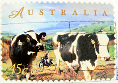 stamp Australia 45c cows bollo selo franco   Briefmarken Australien 45c    Commonwealth 45c      odly pullar Avustralya timbre stamp selo franco bollo postage porto sellos marka briefmarke francobol (stampolina) Tags: cow cattle cows cent australia 45 stamp porto australien timbre commonwealth postage franco revenue selo marka sellos avustralya briefmarken  australi  pulu briefmarke  francobollo   bollo postzegels  zegels timbresposte   pullar timbru  frankatur postapulu odly