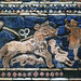 The Standard of Ur, detail with horses and slain figures