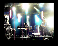 Neon Indian (glamorous_disasters) Tags: barcelona music primavera print neon shoot live indian band screen lo sound artery fi ephemeral 2012 vdeo