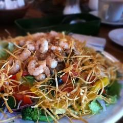 Shrimp salad at South Cafe in Shimoda