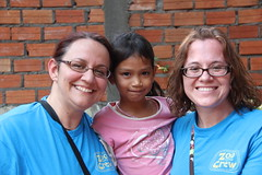 """Sara and Tara with Pisey, one of the children sponsored by TOCC Children's Ministry <a style=""""margin-left:10px; font-size:0.8em;"""" href=""""http://www.flickr.com/photos/46768627@N07/13295501845/"""" target=""""_blank"""">@flickr</a>"""