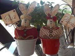 vasinhos (Sonhos de Tecido) Tags: artesanato coelhos pascoa