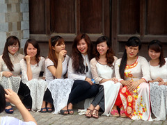 College Girls in Ao Dai's