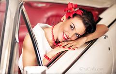 Gina Carla Smile Thundi (Sebastian Köhler) Tags: sexy girl smile legs gina 50s lipstick pinup schön ginacarla