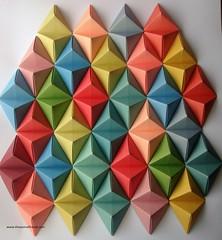 DSC01526 (thesesmallhands) Tags: sculpture art wall paperart origami handmade homemade website tessellation paperfolding