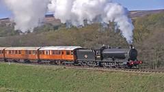 LNER Class Q6 No.63395 southbound at Moorgates [NYMR] (soberhill) Tags: steam pickering grosmont nymr 2016 northyorkshiremoorsrailway lner 63395 moorgates classq6 scottishbranchlinegala