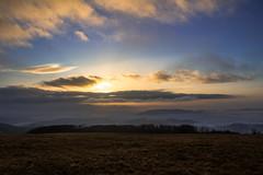 vychod3 (Dominika Dan) Tags: morning sky mist tree nature fog canon haze czech lanscape