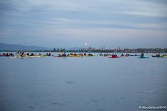 Small earth globes and refinery in distance at Luminary flotilla at Break Free PNW 2016 photo by Alex Garland  img_1840 (Backbone Campaign) Tags: water justice washington energy kayak break action politics protest creative paddle shell free social demonstration oil change wa environment activism anacortes campaign pnw refinery climatechange climate tesoro artful backbone renewable refineries 2016 kayaktivist kayaktivism breakfreepnw